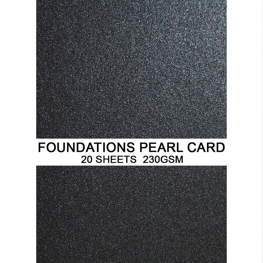 Foundations Pearl Card by Creative Expressions - Graphite - A4