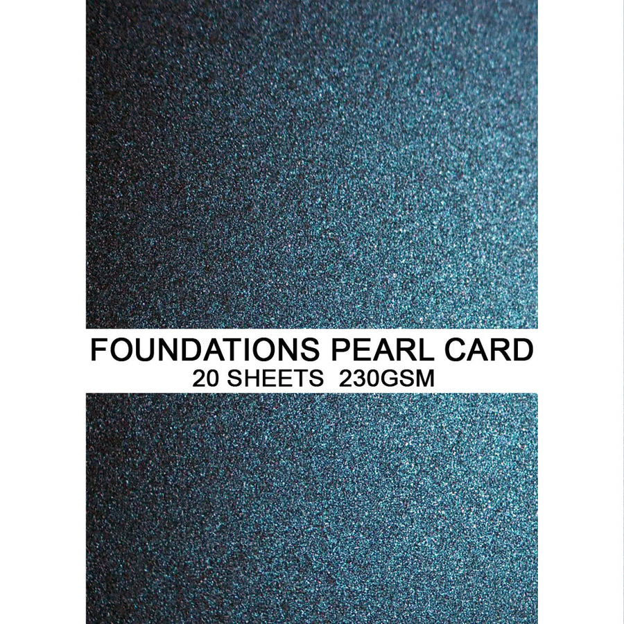 Foundations Pearl Card by Creative Expressions - Midnight Blue - A4