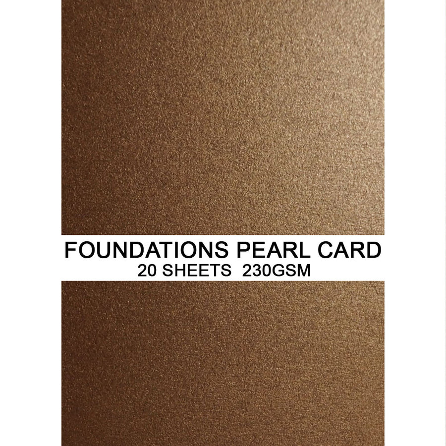 Foundations Pearl Card by Creative Expressions - Antique Copper - A4