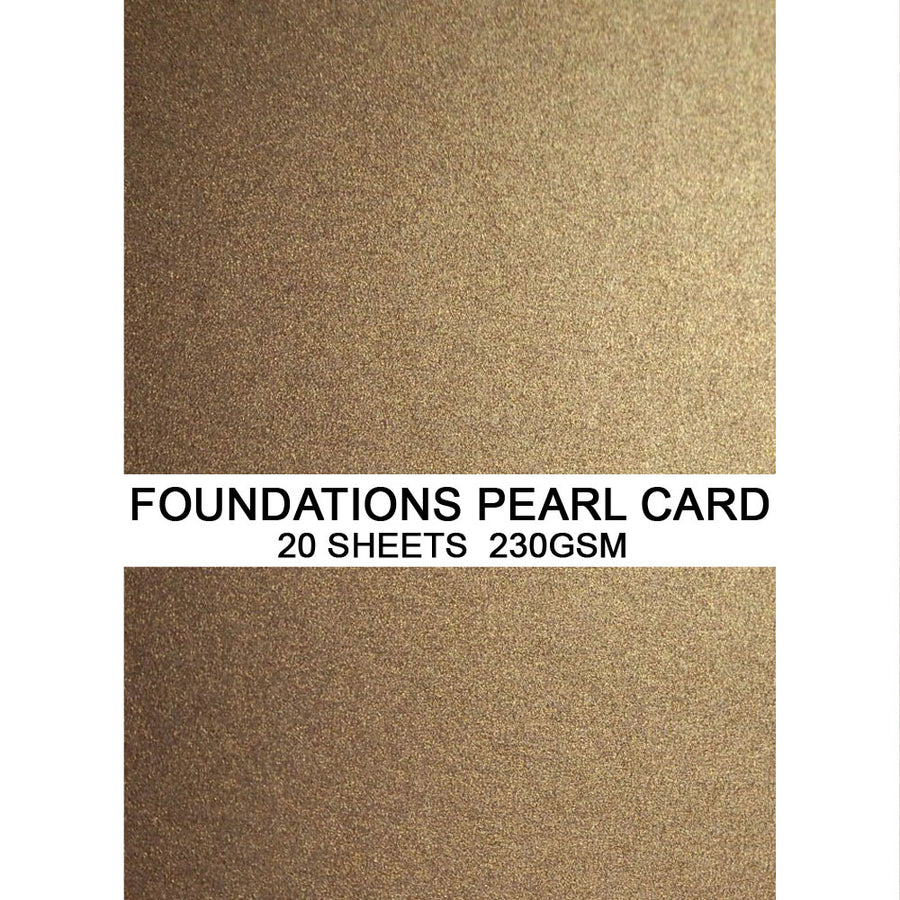 Foundations Pearl Card by Creative Expressions - Antique Gold - A4