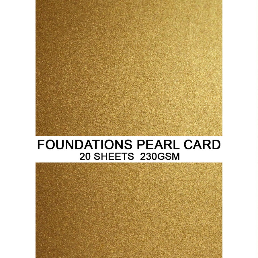 Foundations Pearl Card by Creative Expressions - Bright Gold - A4
