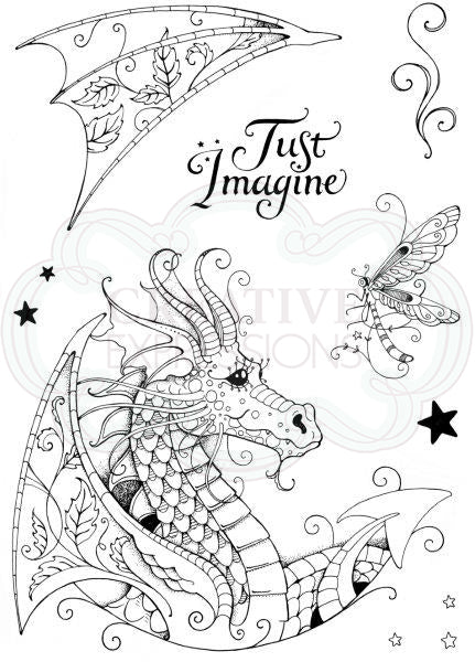 Pink Ink Designs Stamp - Dragon