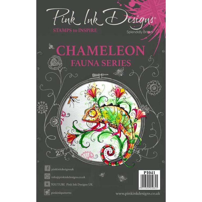 Pink Ink Designs Stamp - Chameleon