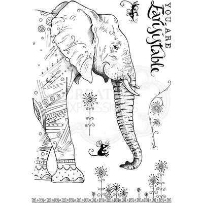 Pink Ink Designs Stamp - Elephantastic