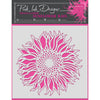 "Pink Ink 8""x 8"" Stencil - Sunflower - PINKST005"