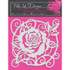 "Pink Ink 8""x 8"" Stencil - English Garden - PINKST008"