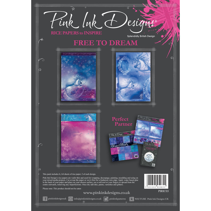 Pink Ink Designs - Free To Dream - A4 Rice Paper