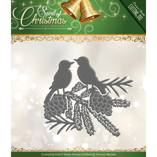 Precious Marieke Die - Spirit of Christmas - Spirited Birds
