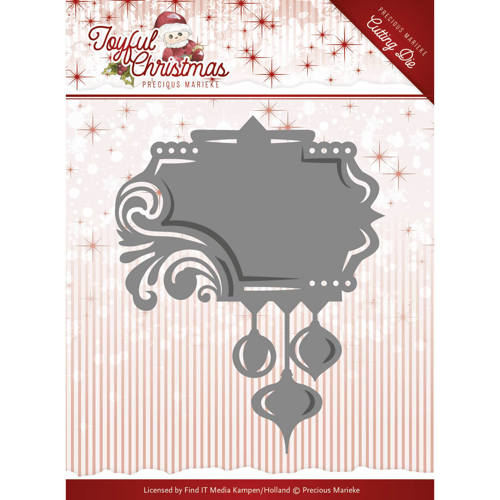 Precious Marieke Die - Joyful Christmas - Label Ornament