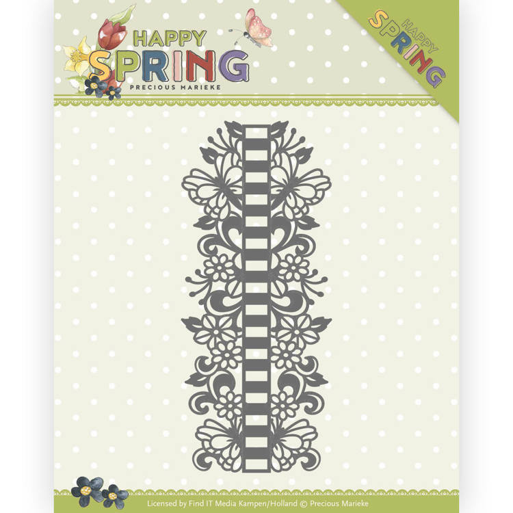 Precious Marieke Die - Happy Spring - Ribbon Border