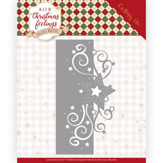 Precious Marieke Die - Warm Christmas Feeling - Swirl Star Edge