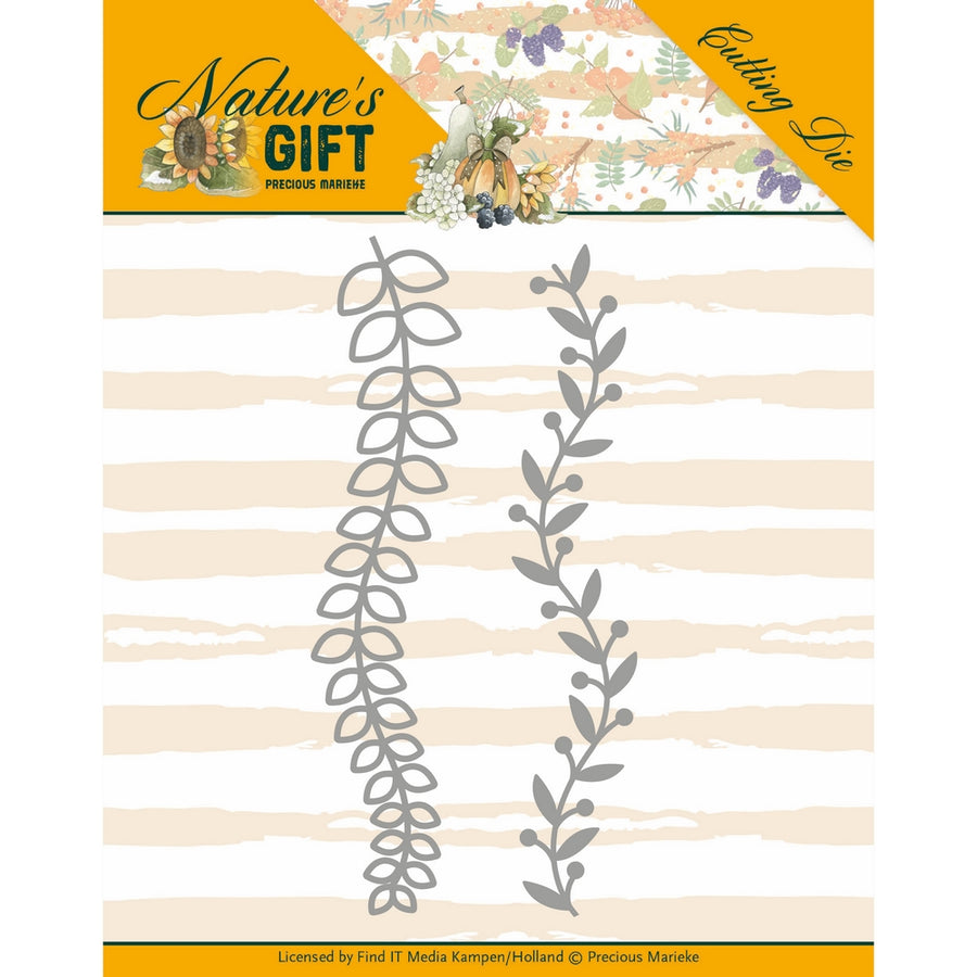 Precious Marieke Die - Natures Gift - Leaves Border
