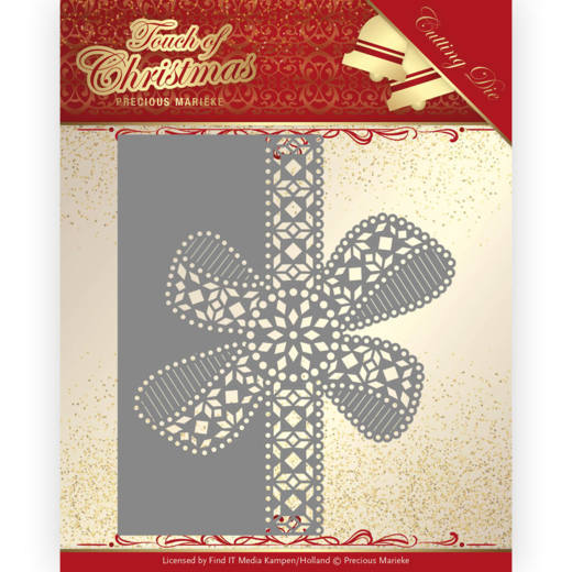 Precious Marieke Die - Touch of Christmas - Christmas Bow Border