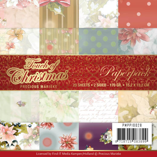 Precious Marieke Stamp - Touch of Christmas - Paper Pad