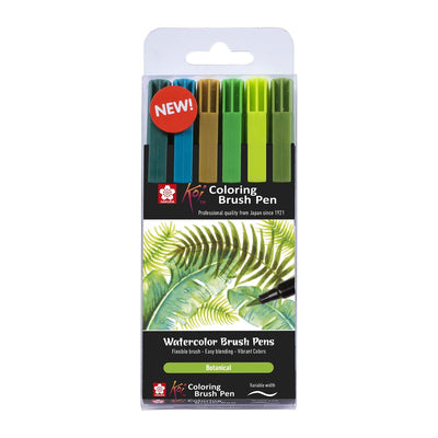 Sakura Koi Colour Brush - Set of 6 - Botanic