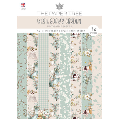 Paper Tree - Yesterdays Garden - A4 Backing Papers - PTC1141