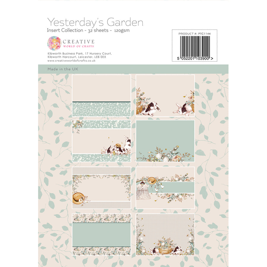 Paper Tree - Yesterdays Garden - A4 Insert Collection - PTC1144