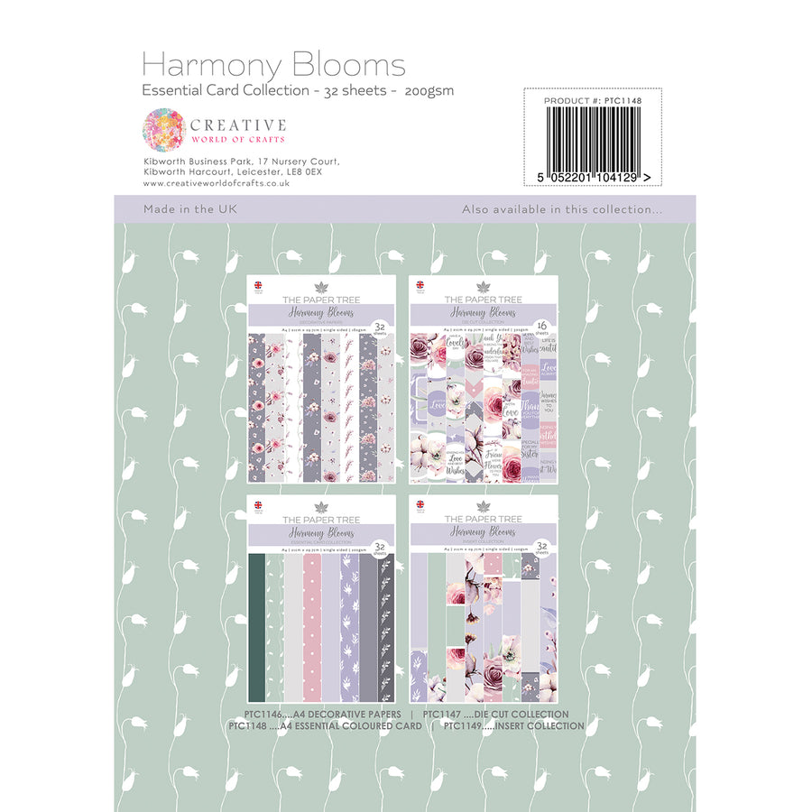 Paper Tree - Harmony Blooms - A4 Essential Coloured Card - PTC1148