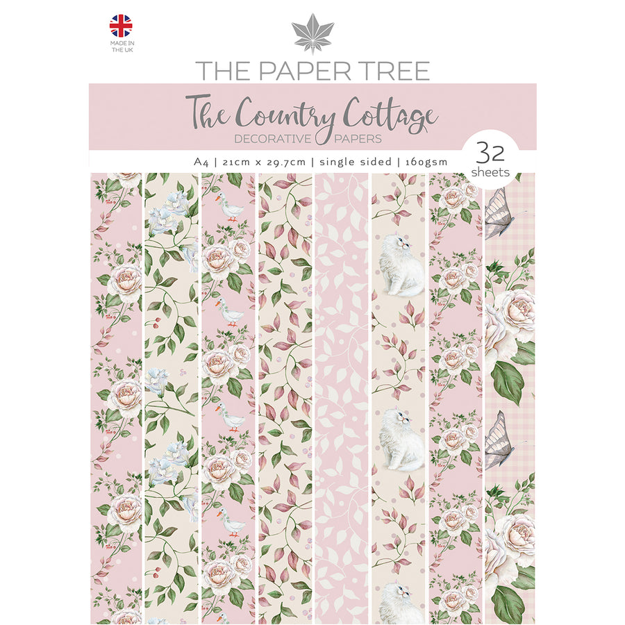 Paper Tree - The Country Cottage - A4 Backing Papers - PTC1151