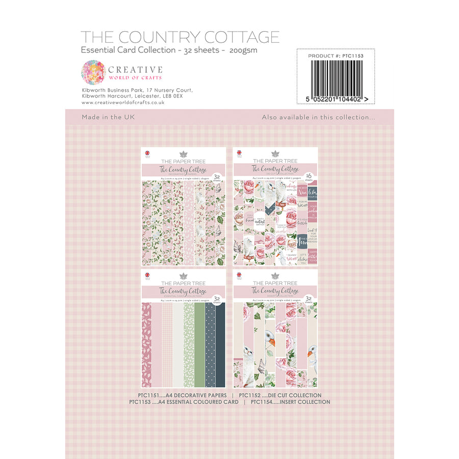 Paper Tree - The Country Cottage - A4 Essential Coloured Card - PTC1153