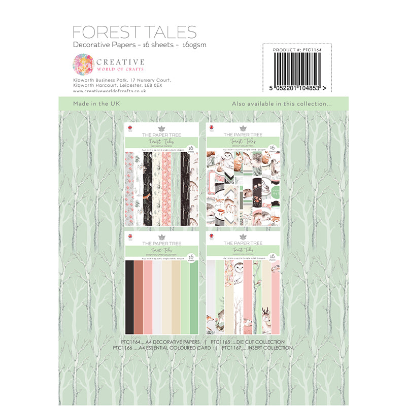 The Paper Tree - Forest Tales - A4 Backing Papers - PTC1164