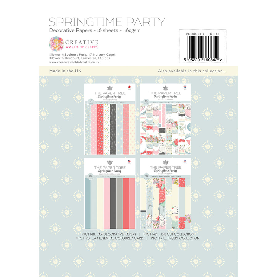 Paper Tree - Springtime Party - A4 Backing Papers - PTC1168