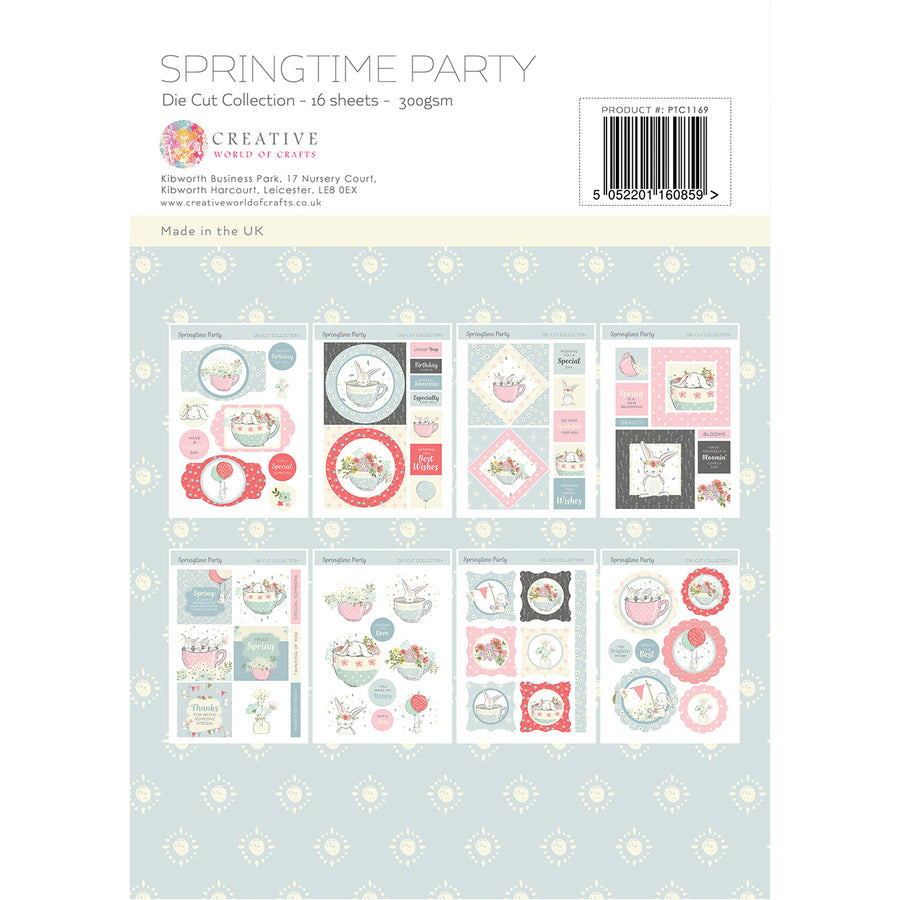 Paper Tree - Springtime Party - A4 Die Cut Collection - PTC1169