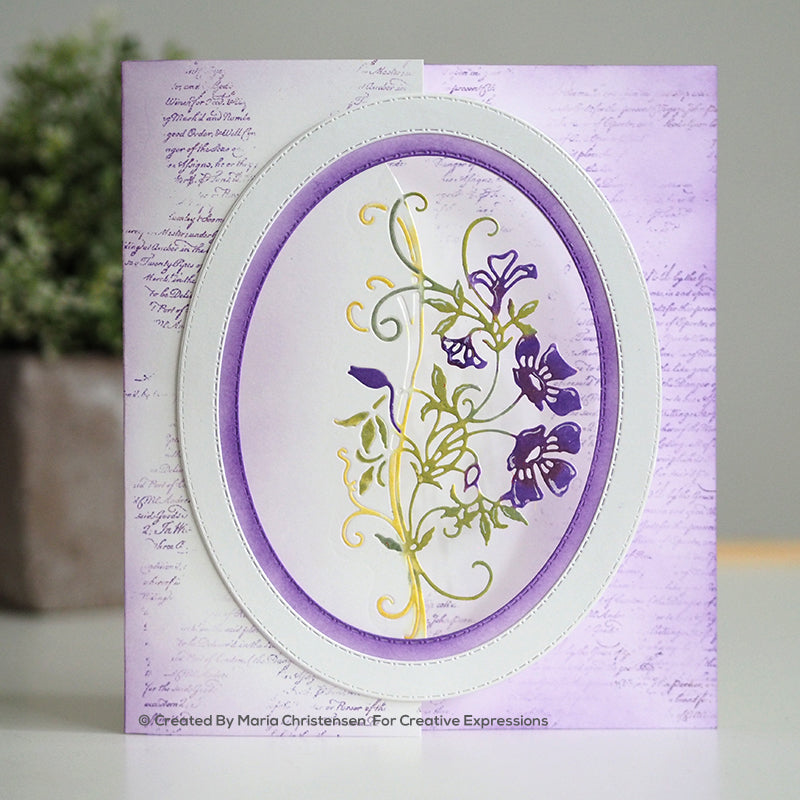 Paper Cuts Edger Die - Climbing Clematis - CEDPC1161