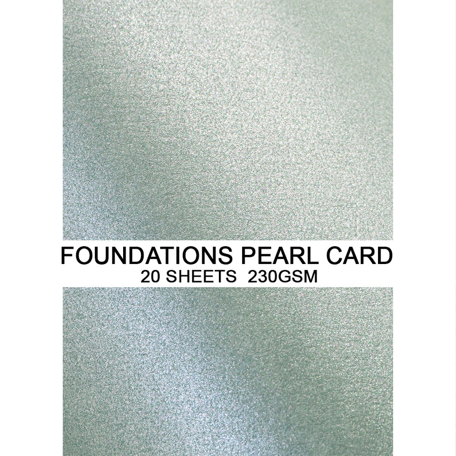 Foundations Pearl Card by Creative Expressions - Sage - A4
