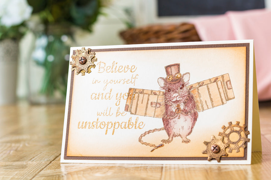 Crafters Companion - Clear Acrylic Stamp - Unstoppable