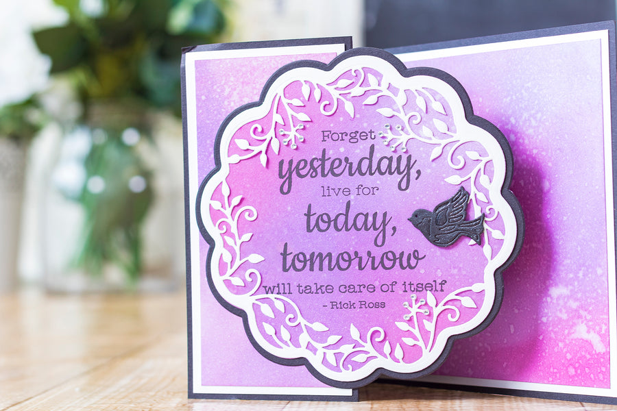 Crafters Companion - Clear Acrylic Stamp - Yesterday, Today, Tomorrow