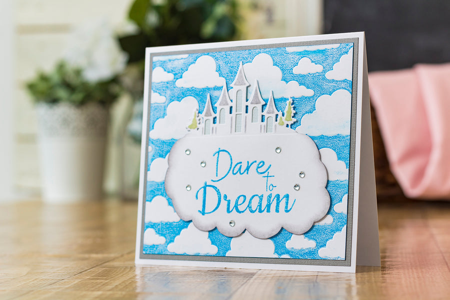 Crafters Companion - Clear Acrylic Stamp - Dare to Dream