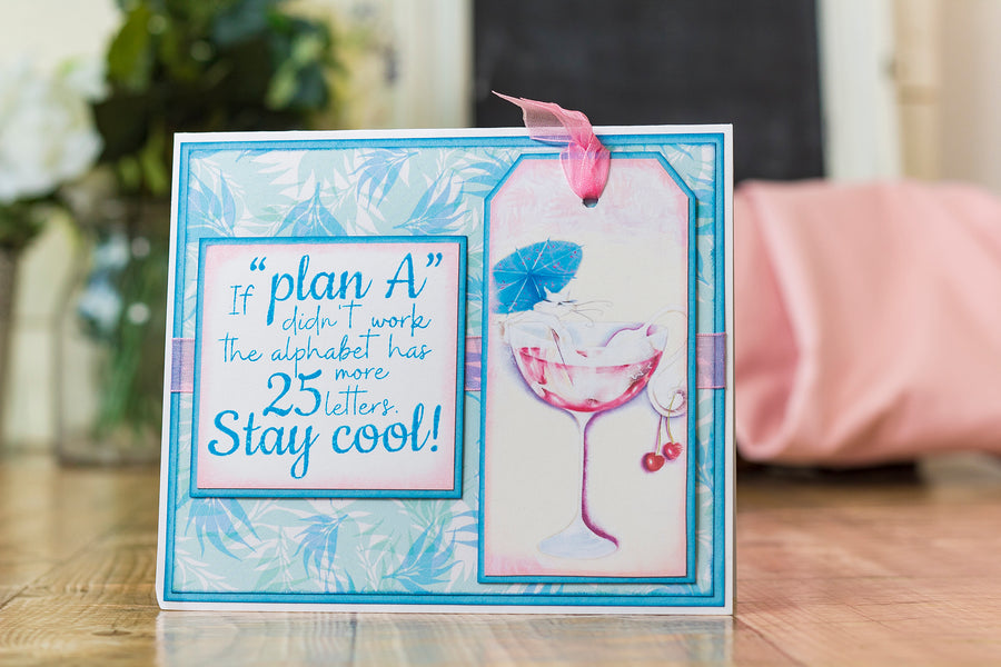 Crafters Companion - Clear Acrylic Stamp - Plan A