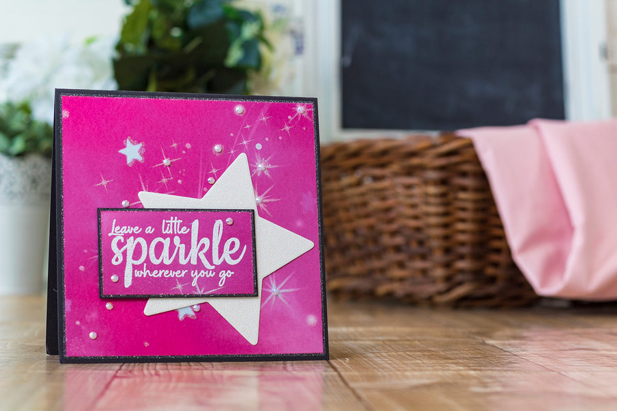 Crafters Companion - Clear Acrylic Stamp - A Little Sparkle