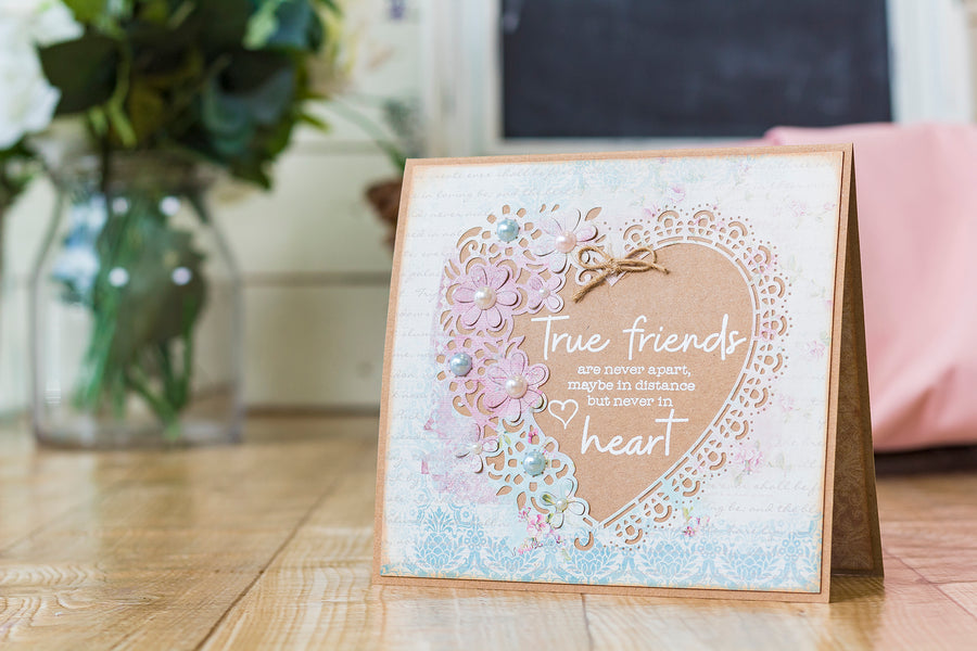 Crafters Companion - Clear Acrylic Stamp - True Friends