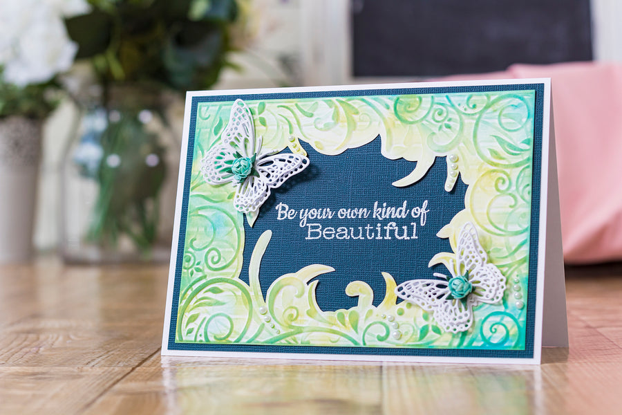Crafters Companion - Clear Acrylic Stamp - Beautiful