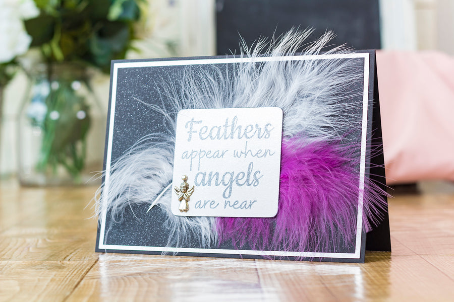 Crafters Companion - Clear Acrylic Stamp - Angel Feathers