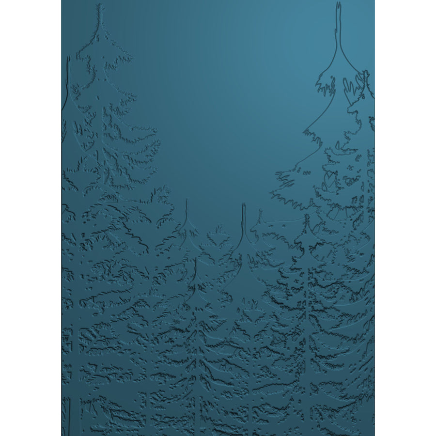 Sara Signature Collection - Enchanted Christmas - 3D Embossing Folder - Pine Forest