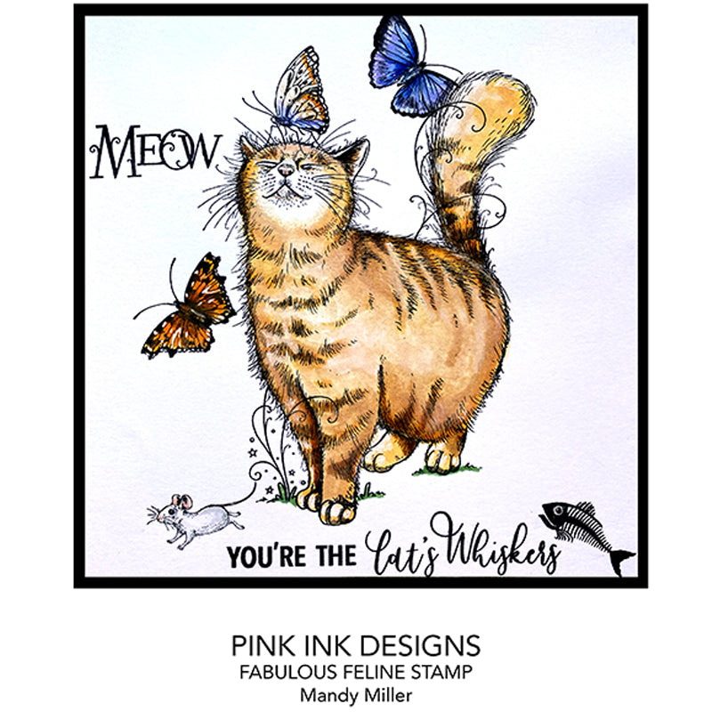 Pink Ink Designs Stamp - Fabulous Feliner