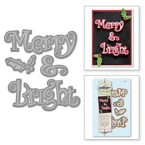 Spellbinders Christmas Die: Merry & Bright - S2-184
