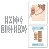 Spellbinders Die D-Lites - Exquisite Splendor by Marisa Job - Happy Birthday Banner - S2-300