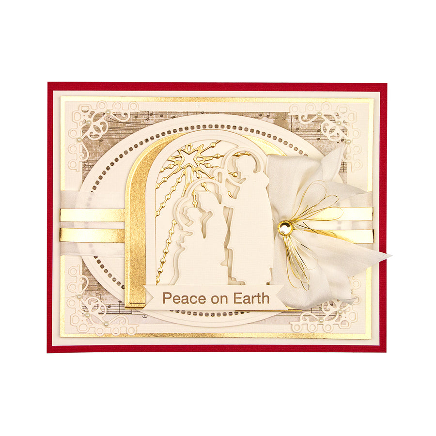 Spellbinders - Nativity Layering Set  Die  - 3D Holiday Vignettes Collection by Becca Feeken  - S4-1006