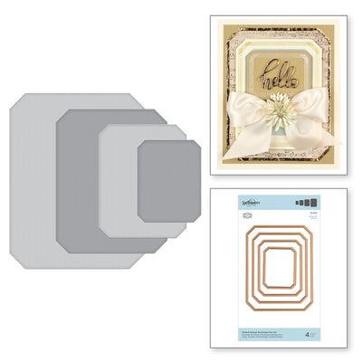 Spellbinders Gilded Nested Rectangle Die Set - The Gilded Age by Becca Feeken - S4-1013
