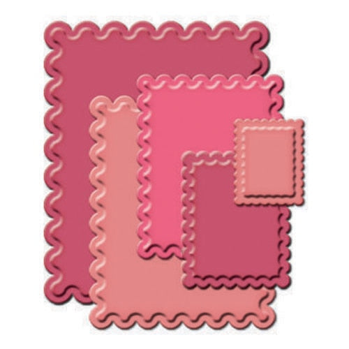 Spellbinders Nestabilities: Classic Scalloped Rectangles Large (S4-133)