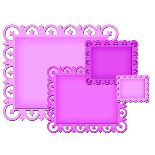 Spellbinders Nestabilities Decorative Elements: Fleur De Lis Rectangles (S4-317)