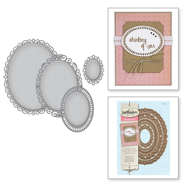 Spellbinders Nestabilities Decorative Elements: Elegant Ovals S4-425