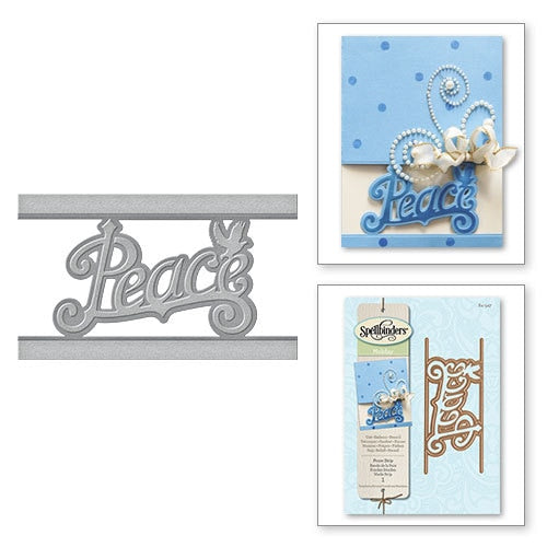 Spellbinders Christmas Die: Peace Strip - S4-547