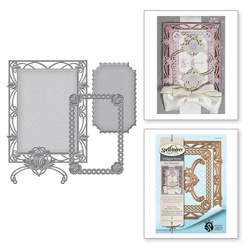 Spellbinders Nestabilities Art Nouveu Water Lilies Decorative Accent Stacey Caron (S4-669)