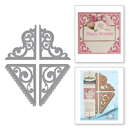 Spellbinders Graceful Corners Two Card Creator Amazing Paper Grace by Becca Feeken (S4-747)