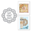 Spellbinders Dies - Marisa Job Thoughtful Expressions - Get Well Soon Scalloped Circle - S4-831